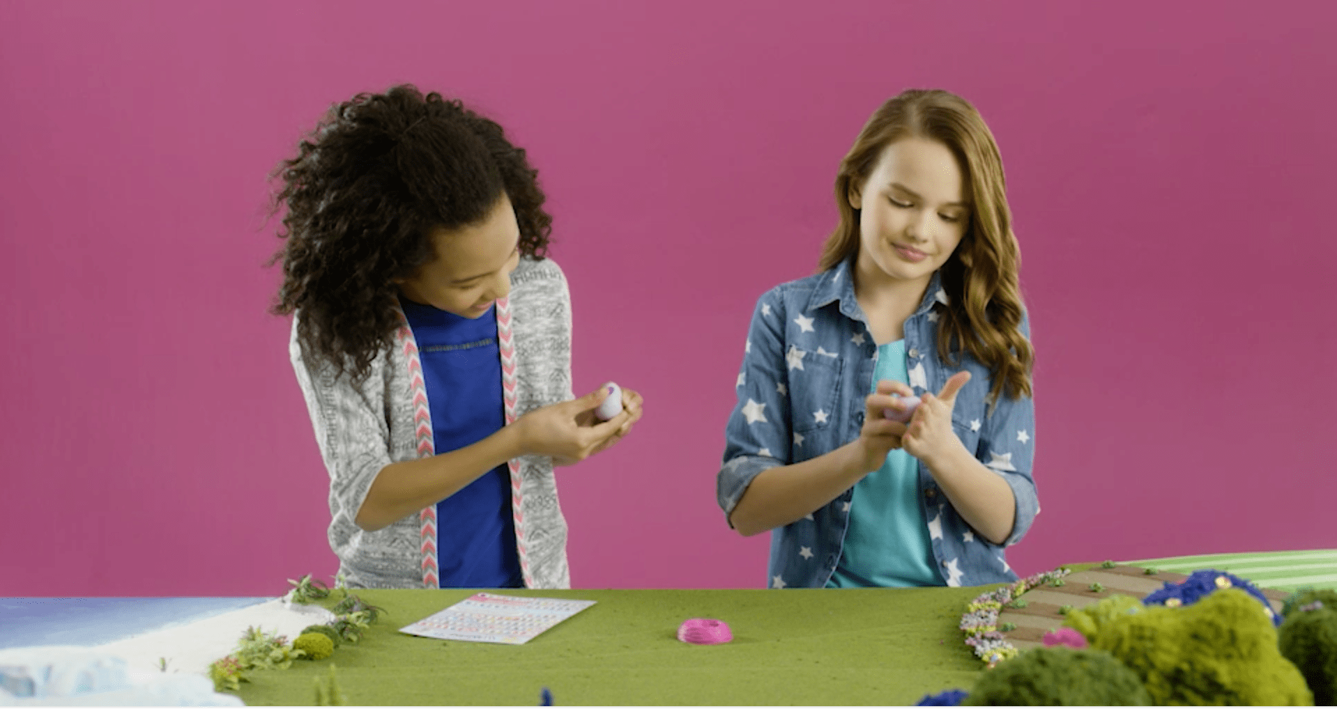 Girls play with hatchimals this Black Friday